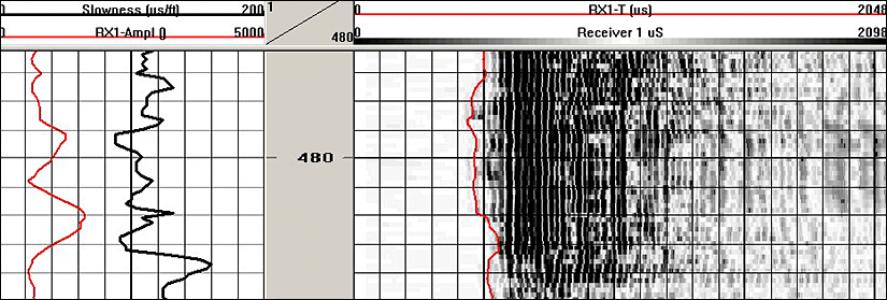 Модульный акустический каротаж полных волновых сигналов 2SAA-1000-F