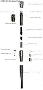 """Наконечник, кабельная головка Gearhart-Owen для 4.76 мм (0.187"""") 4-х жильного кабеля"""