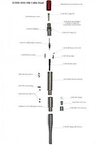 """Наконечник, гибридная кабельная головка Gearhart-Owen/MSI для 4.76 мм (0.187"""") одножильного кабеля"""