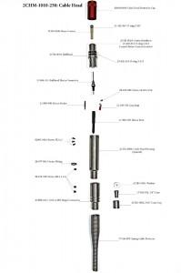 """Наконечник, кабельная головка  Gearhart-Owen для 6.35 мм (0.25"""") 4-х жильного кабеля"""