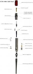 """Наконечник, кабельная головка MSI Cablehead Assembly для 2.54 и 3.17 мм (0.10 и 0.125"""") одножильного кабеля"""