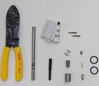 """Стандартный набор замены головки для 6.35 мм (0.25"""") 4-х жильного кабеля"""